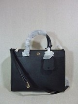 Tory Burch Black Saffiano Leather Robinson Double-Zip Tote - $443.31