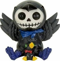 Ebros Furrybones Leopold The Raven Hooded Skeleton Monster Collectible S... - $14.99