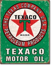 Texaco Motor Oil Texas Company Metal Sign Tin New Vintage Style #1927 - $10.29