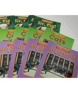 Lot guided reading lvl 1 vocabulary readers Houghton Mifflin Cats School... - $9.89