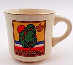 BSA Boy Scouts of America Emblem 1973 National Scout Jamboree Sunset Tree Mug - $8.86