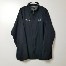Under Armour Mens Windbreaker Jacket 2XL XXL Loose Black Full Zip Gobund... - $28.01