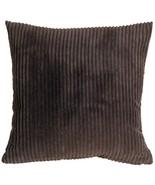 Pillow Decor - Wide Wale Corduroy 22x22 Dark Brown Throw Pillow - $44.95