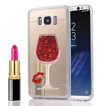 LG G5 Mirror Case,[Liquid Glitter] Sex Lip Luxury Mirror Back Electropla... - $10.88