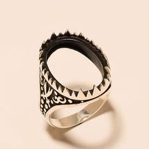 Turkish Men's Jewelry Ring Semi Mount Oval Cabochon Bikers Fashion Pasha... - $19.97