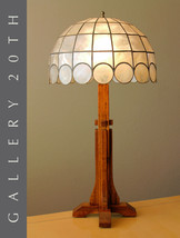 GORGEOUS! ARTS & CRAFTS WOOD TABLE LAMP! FRANK LLOYD WRIGHT TIFFANY ERA ... - $1,100.00