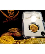 """SPAIN 2 ESCUDOS """"RARELY DATED 1595!"""" NGC 50 GOLD DOUBLOON COB COIN - $2,350.00"""