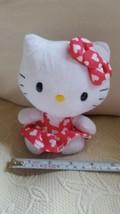"Valentine's Day HELLO KITTY 6"" HEART CAT PLUSH DOLL TY SANRIO heart dres... - $7.66"