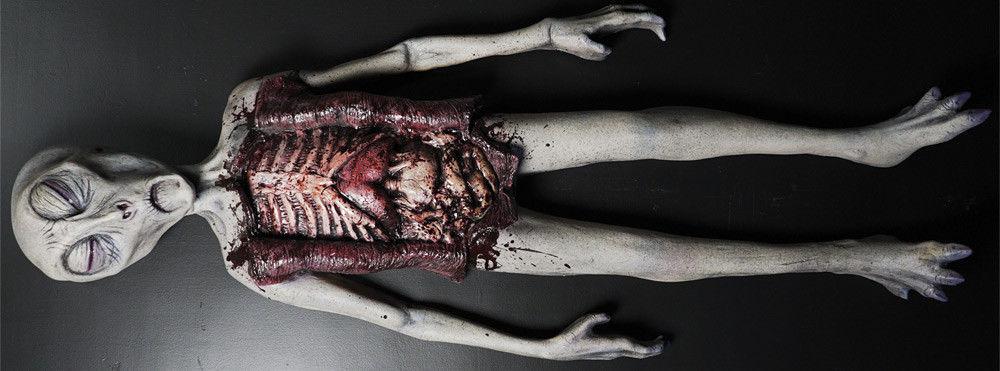 Alien Autopsy Realistic Prop Halloween Haunted House Decorations Distortions
