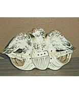 CERAMIC White & Gold Ceramic EAGLE Night Light L242 No Cord No Light Thi... - $29.69