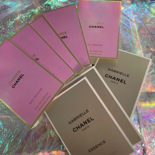 8 Pc Chanel Chance & Gabrielle EDP LOT 1.5mL (12ml Total)