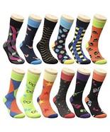 Groovy Socks Men's Fun & Funky Colorful Fashion Patterned Dress Socks - ... - $32.17