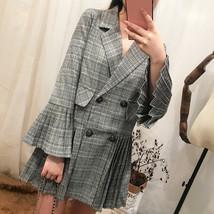 High Quality Fashion 2018 Autumn New Women jacket coat Pleated Flare sle... - $42.10