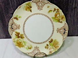 Antiq Art Nouveau Ohme Silesia Clarion Old Ivory 16 Pierced Handled Cake... - $27.72
