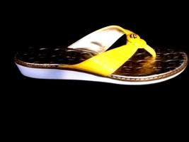 Etienne Aigner - Jacob Yellow Patent Leather Flip Flop Thong Slide Sandals - 7.5 - $32.57