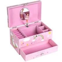 SONGMICS Unicorn Ballerina Musical Jewelry Box, Music Box with Pullout D... - $34.19