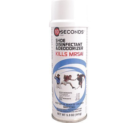 10-Seconds Shoe Deodorizer and Disinfectant - The Only EPA-Approved Shoe Disinfe