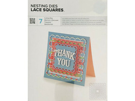 We R Memory Keepers Nesting Dies Lace Squares, Set of 7 #03070-4