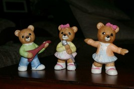 Homco Sock Hop Bears 1421 50's Style Home Interiors - $9.99
