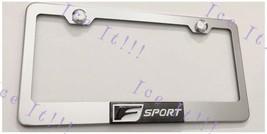 3D F Sport Lexus Emblem Stainless Steel License Plate Frame Rust Free - $19.79