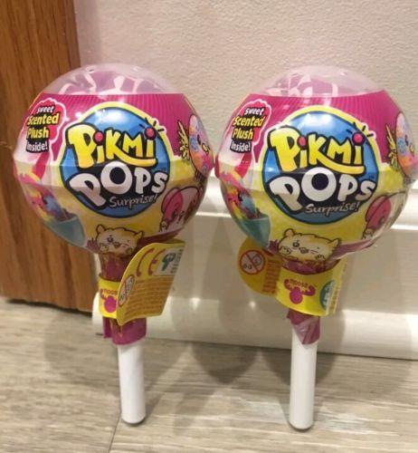 LOT OF 2 PIKMI SURPRISE POPS MYSTERY SMALL LOLLIPOPS NIP
