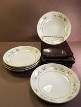 """Set of 5 Dessert Bowls M Fine China Japan """"Pembrook"""" 6515 Floral Design ... - $19.85"""