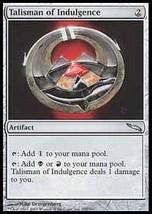 MTG x2 Talisman Of Indulgence (Mirrodin) MINT + BONUS! - $1.00