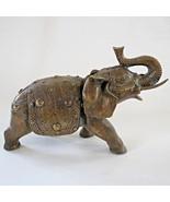 Bronze antique elephant figurine India Chinese 1890 Art Nouveau Divinity... - $95.03