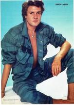 Simon Le Bon Duran Duran teen magazine pinup clipping Rockline Open Shirt