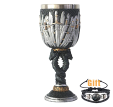 Game of Throne Goblet Wine Glass House Stark Legends of the Swords 6 - $22.50