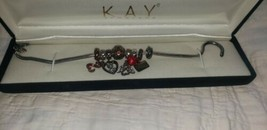 Sterling Silver Charm Bracelet With Sterling Charms - $24.75