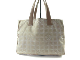 Auth CHANEL Travel line Canvas, Leather Pinks Tote bag CT7995L - $199.00