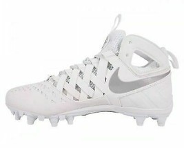 Nike Huarache v LAX TD Lacrosse Cleats 807142-100,White and silver brand new - $27.80+
