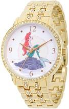 Disney Princess Ariel Women's Gold Alloy Glitz Watch, Gold Alloy Bracelet - $1.468,68 MXN