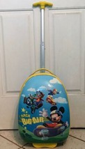 """Mickey Mouse Clubhouse Disney Suitcase Big Air Rolling 18"""" Hard Sided By... - $11.88"""
