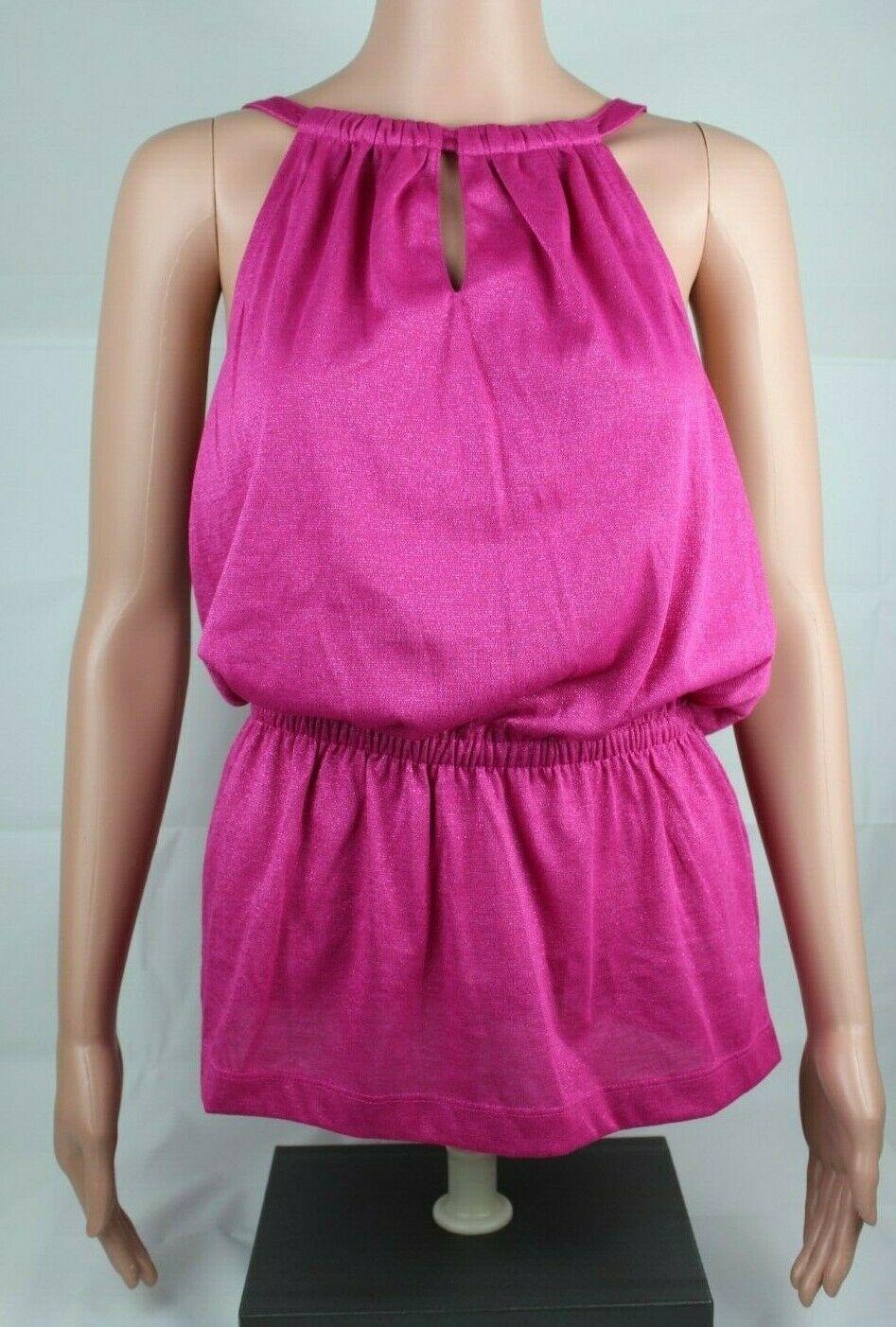 Calvin Klein women's top sleeveless pink glitter size S/P
