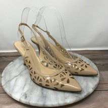 Kate Spade Jacey Nude Cut Out Patent Leather Slingback Heels Womens Size 7.5 - $44.95