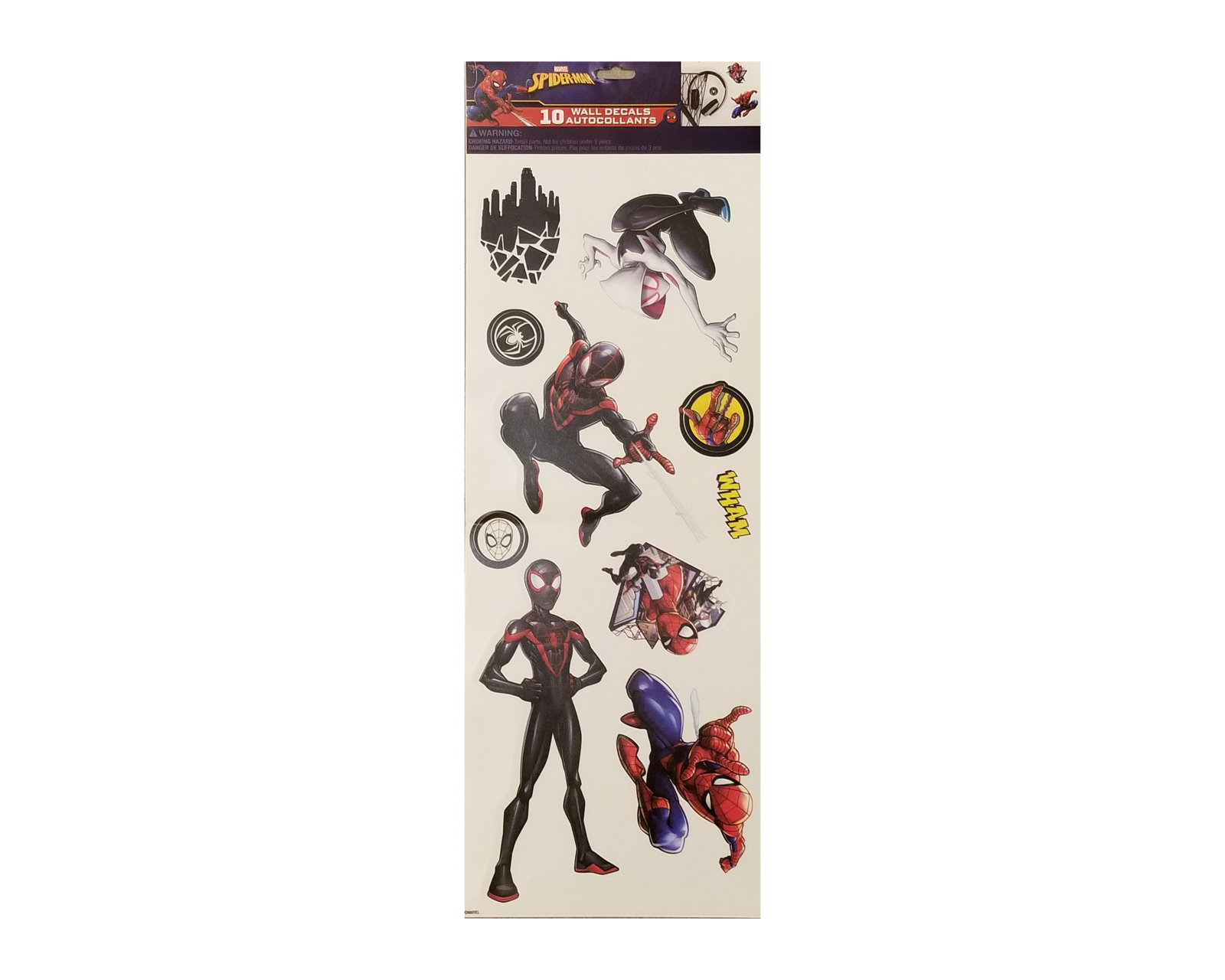 Spider man spiderverse wall decal