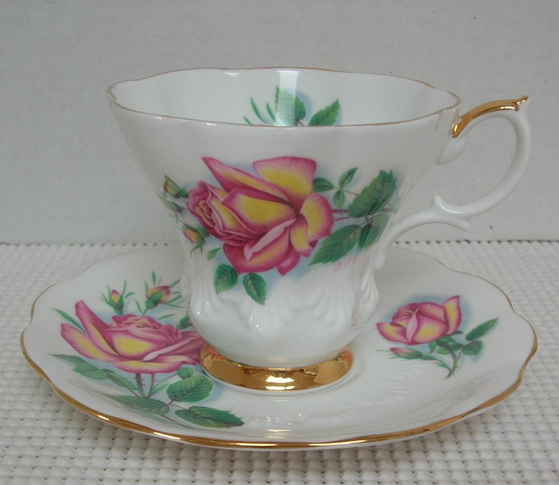 "Royal Albert SWEETHEART ROSE ""ANNE"" Bone China TEA CUP & SAUCER England SIGNED"