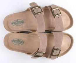 Woodstock Women Leslie Comfort Footbed Adjustable Straps Sandal Shoe Tan Size 9 image 2