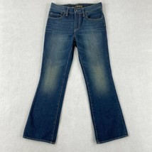 Gap Kids 1969 Denim Jeans Youth Girls 12R Dark Blue Faded 5-Pocket Bootcut Leg - $14.99