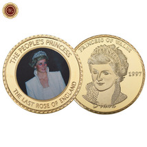 WR Diana Princess of Wales People's Princes 24K Gold Coin Neat Christmas... - $4.76