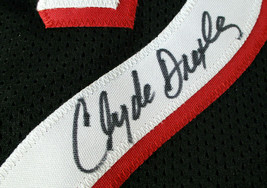 CLYDE DREXLER / NBA HALL OF FAME / AUTOGRAPHED TRAIL BLAZERS CUSTOM JERSEY / COA image 5