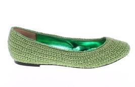 Dolce & Gabbana Women Green Knitted Ballerinas Ballet Flats Shoes EU39/US8.5 - $203.52