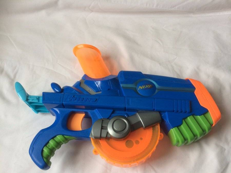"Primary image for NERF Buzzsaw Blue Toy Gun Ball Shooter ""No Balls"""