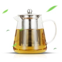 Luxtea Glass Teapot 25oz with Removable Stainless Steel Infuser and Stee... - $21.63