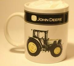 John Deere Coffee Cup Mug Tractor Green and Yellow   - $10.88