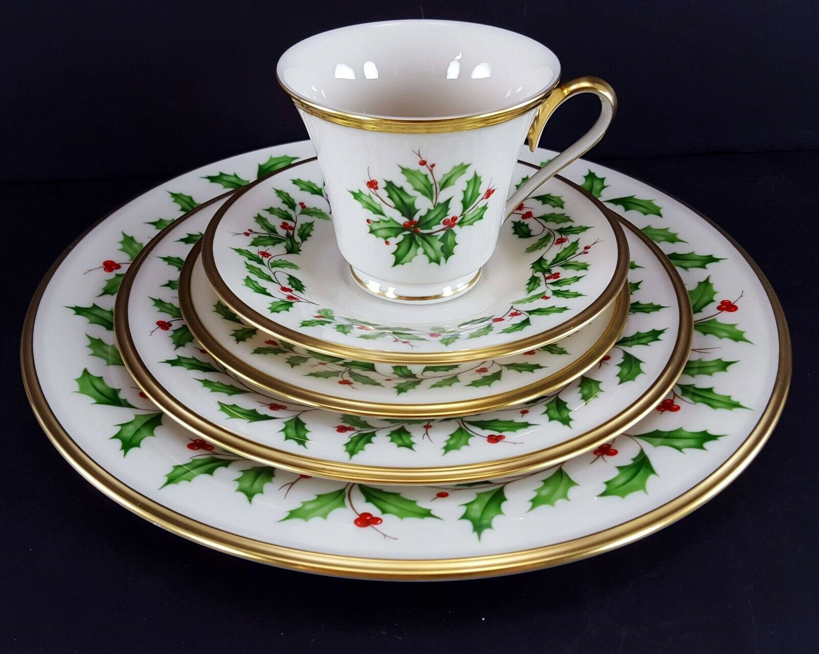 LENOX China Holiday Dimension 5 Piece Place Setting Dinnerware USA image 11