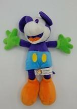 "Disneyland Walt Disney World Purple Orange 11"" Mickey Mouse Plush Stuffe... - $11.87"