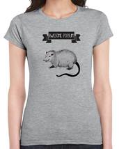 378 Awesome Possum womens T-shirt funny t-shirt mammal animal lover vegan shirt - $15.00+